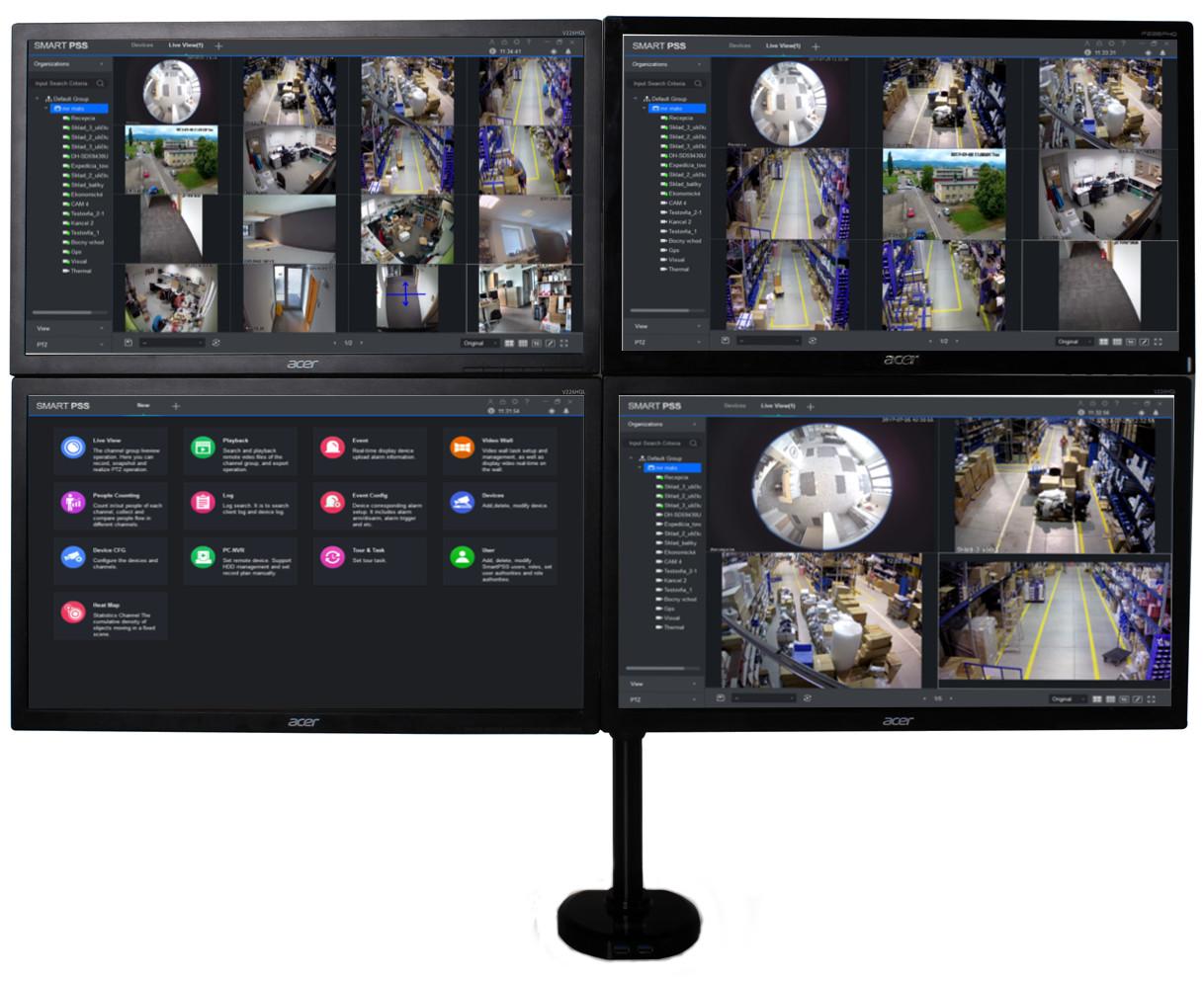 Připojte více monitorů k počítači