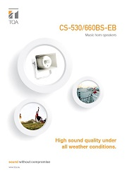 CS-530/660BS-EB Music horn speakers - leták