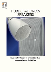 Public Address Speakers - leták