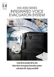 VM-3000 Series Integrated Voice Evacuation System - leták